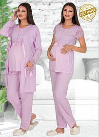 Комплект трійка з мереживом для вагітних і годуючих мам Polat Yildiz