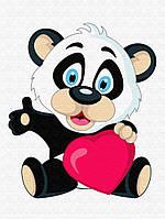 """Картина по номерам """"Панда с сердцем"""" для детей в коробке, 30*40 см"""