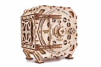 Механічний Сейф-дерев'яний 3D пазл Wood trick (механічний дерев'яний конструктор)