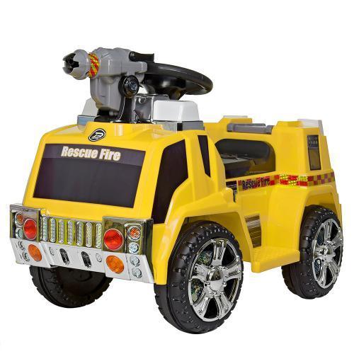 Детский электромобиль ZPV119AR-6 желтый с мыльными пузырями