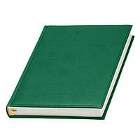 Ежедневник Принт недатированный, кремовый блок, зеленый от 10 шт