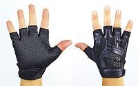 Перчатки тактические с открытыми пальцами MECHANIX, р L, текстиль, кожзам, черный (BC-4926-L)