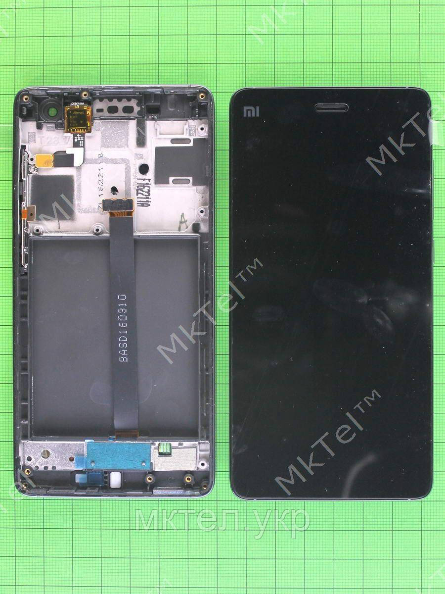 Дисплей Xiaomi Mi4 с сенсором, панелью черный Оригинал #480025201003