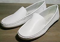 """Женские мокасины белые Smart casual AESD White - туфли женские на """"низком ходу"""".в наличии 36р Распродажа!"""