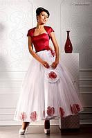 """Свадебная сумочка из кружев, атласа, фатина и органзы """"Цветочный блюз"""""""