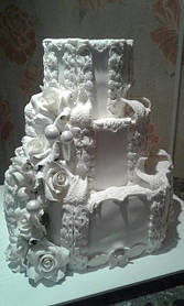 Сахарные украшения для свадебных тортов