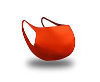 Многоразовая защитная маска для лица Fandy Standart2 3-х слойный неопрен оранж мужская