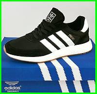 Кроссовки Мужские Adidas Iniki Runner Boost Чёрные Адидас (размеры: 44,45,46) Видео Обзор