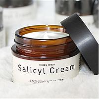 Крем салициловый с эффектом пилинга Elizavecca Milky Wear Salicyl Cream(50g)