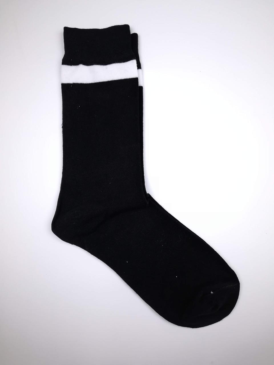 Чоловічі шкарпетки з принтом Горизонтальна смуга