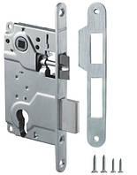 Замок под цилиндр для межкомнатной двери Armadillo LH 25-50 (мат никель)