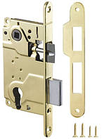 Замок под цилиндр для межкомнатной двери Armadillo LH 25-50 (золото)