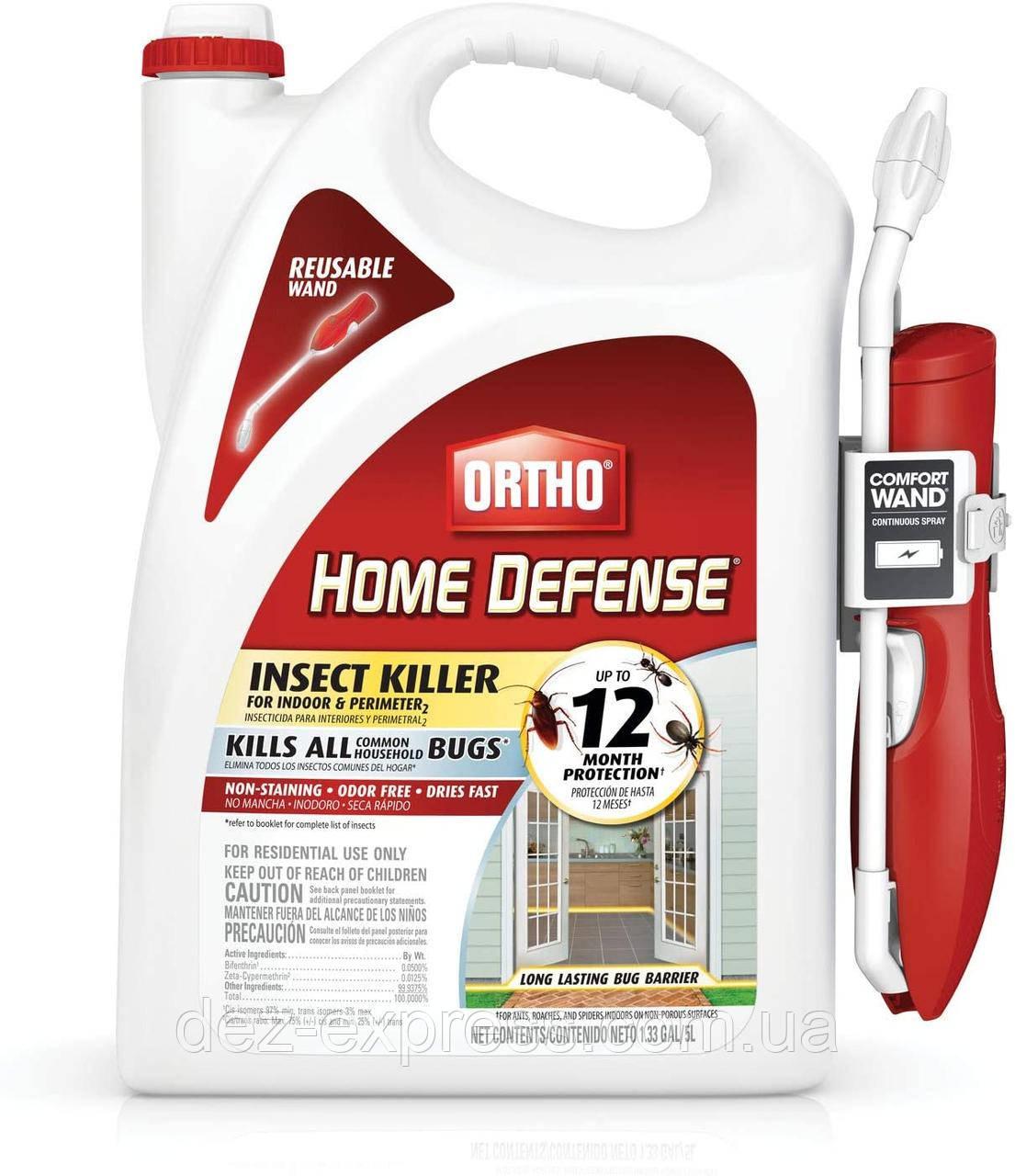 Защита дома и периметраот Всех насекомых. Ortho Home Defense Insect Killer от клещей, блох, муравьев