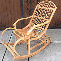 Кресло-качалка для отдыха садовая для дачи | плетеное кресло качалка из лозы