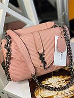 Модна сумочка Yves Saint Laurent натуральна шкіра (репліка), фото 1