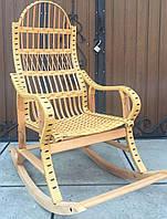 Кресло качалка плетеное | кресло-качалка для отдыха садовая для дачи, фото 1