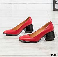 Элитная коллекция! Шикарные туфли на каблуке, итальянская кожа, фото 1