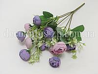 Букет ранункулюсов с добавкой, бледно-фиолетовый