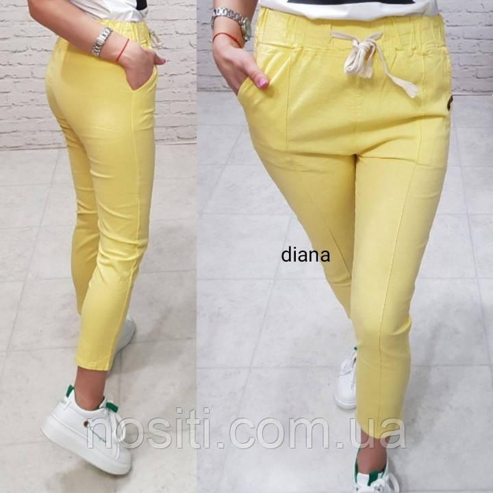 Женские  штаны однотонные коттон