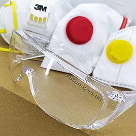 Медицинские защитные очки  для защиты глаз от брызг твердых веществ