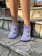 Шкарпетки в сітку жіночі котонові Sanbella з фламінго і пальмами 36-40 12 шт в уп мікс 5 кольорів, фото 2