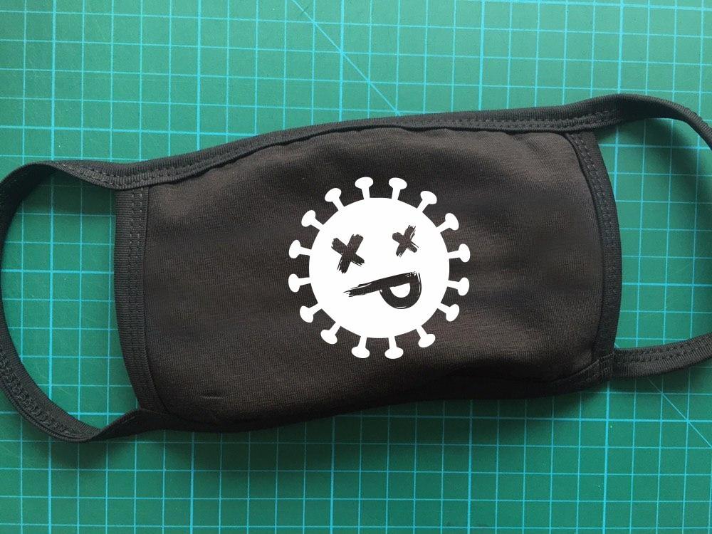 Тканевая сувенирная маска для лица. Смайл2