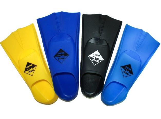 Короткие ласты для плаванья TE-2737. Размер 36-38. Разные цвета.
