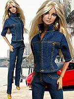Одежда для кукол Барби - джинсовый костюм