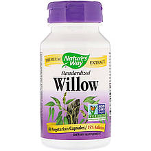"Ива Nature's Way ""Willow Standardized"" стандартизированный экстракт, 900 мг (60 капсул)"