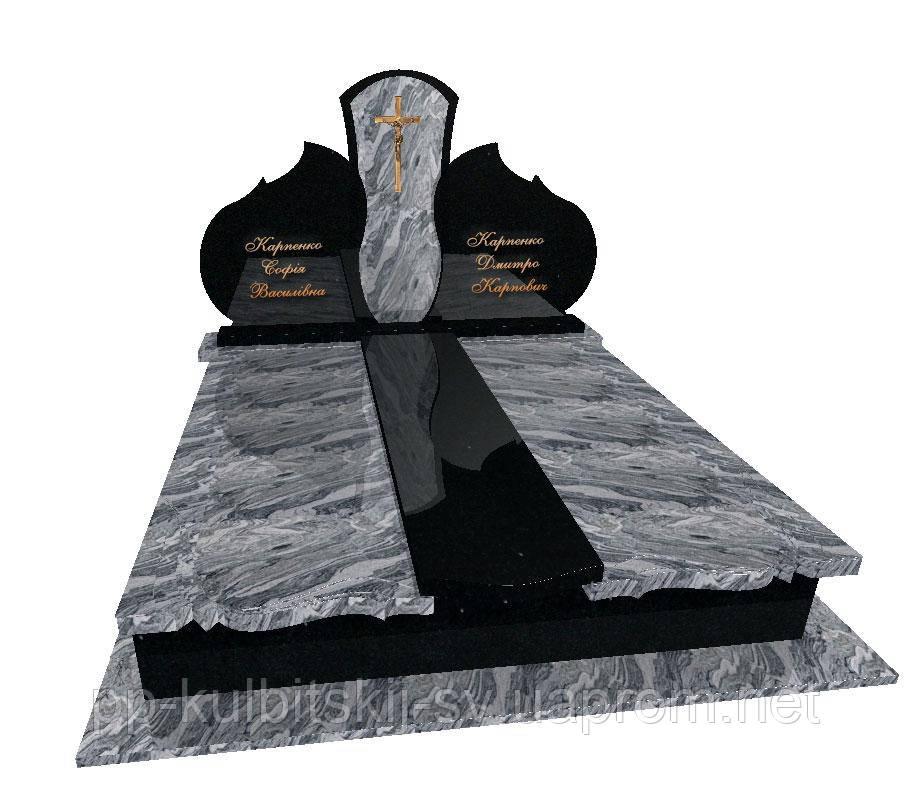 Пам'ятник гранітний подвійний Елітний F3001