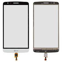 Touchscreen (сенсорный экран) для LG Optimus G3 Stylus D690, белый, оригинал