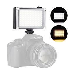 Накамерный свет Ulanzi 112LED для видеосъемки димируемая светодиодная панель 120° 5500К 2 матовых фильтра
