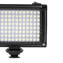 Накамерный свет Ulanzi 112LED для видеосъемки димируемая светодиодная панель 120° 5500К 2 матовых фильтра, фото 3