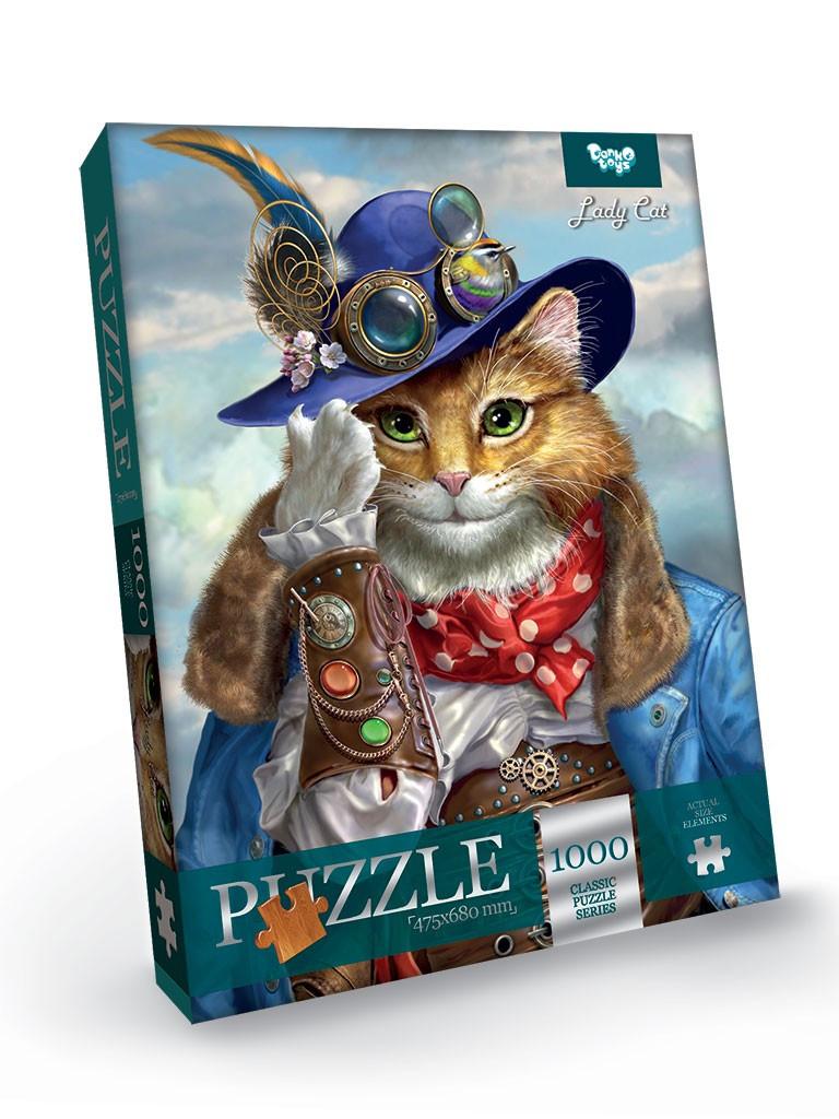 Пазлы на 1000 элементов Lady Cat Danko Toys С1000-09-10