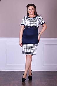 Деловое женское платье удобное Люсьен 48-54 размер №2006