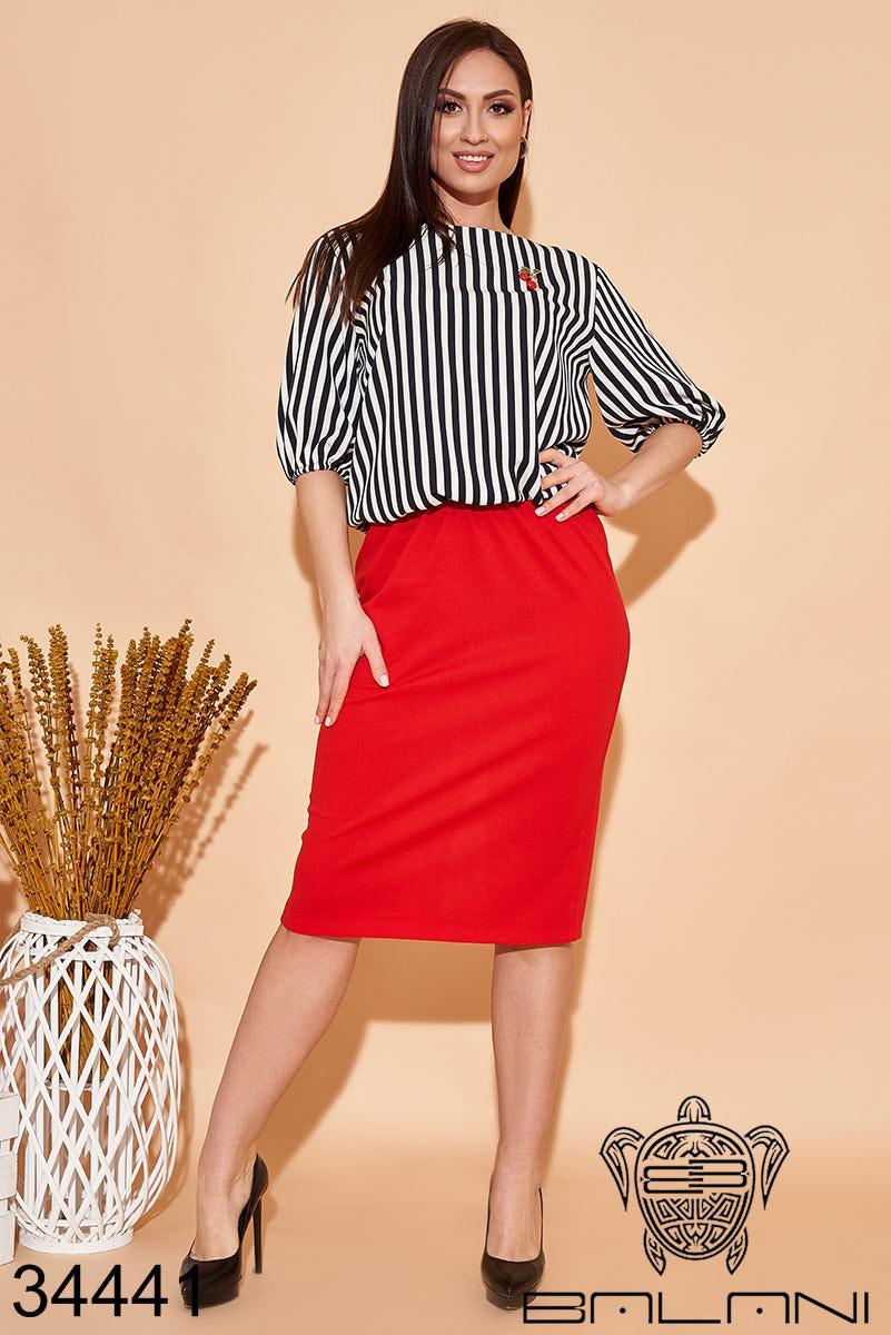 Женский нарядный костюм блуза + юбка Размеры:48,50,52,54,56,58,60,62