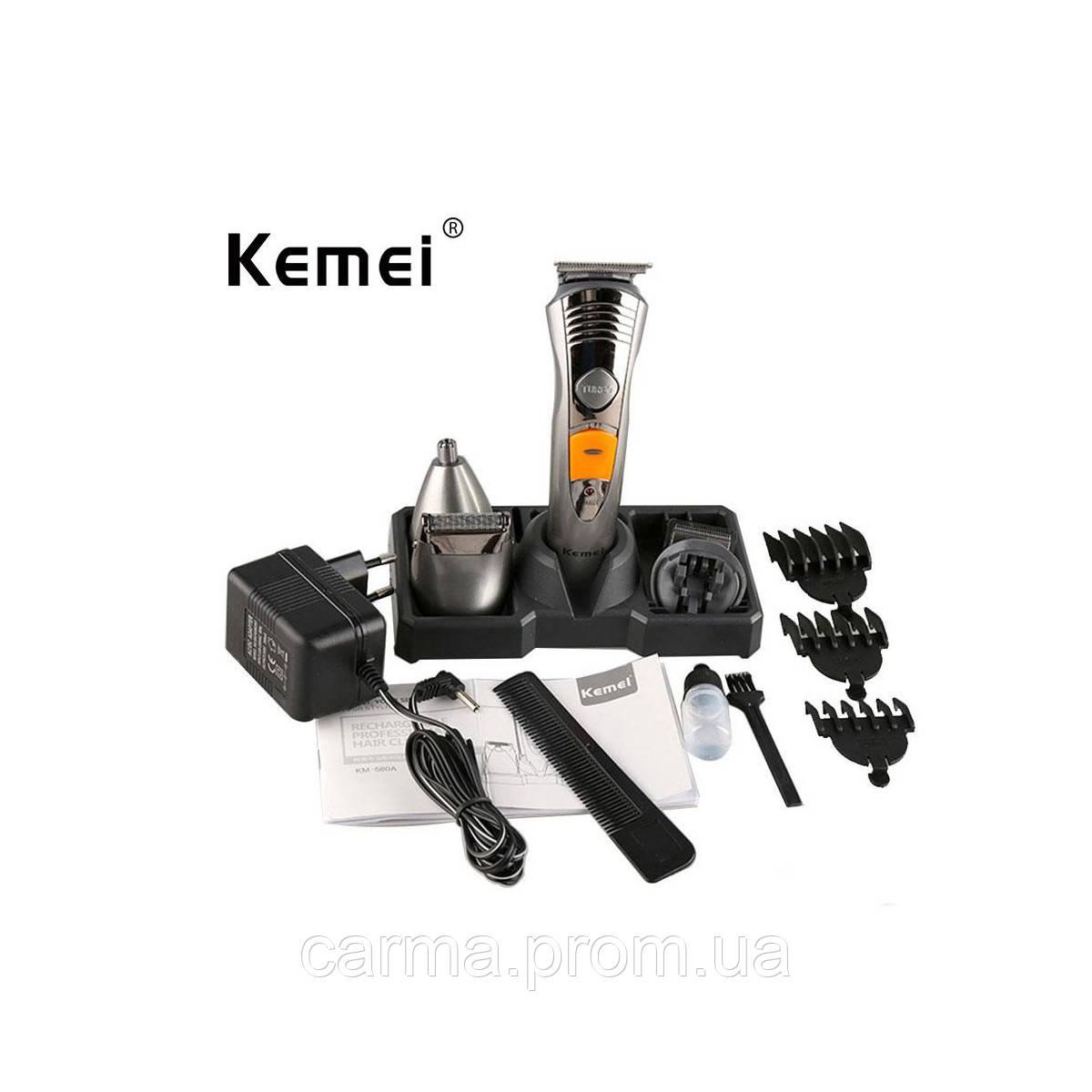 Машинка для стрижки волос KM-580A 7 in 1 Серый