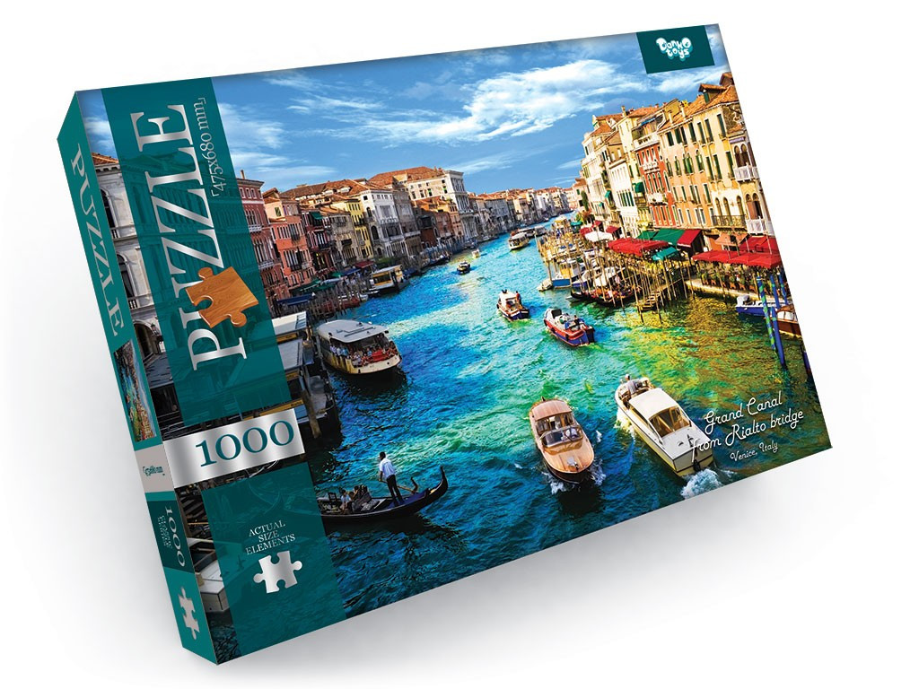 Пазли на 1000 елементів  Grand Canal From Rialto Bridge Danko Toys С1000-09-08