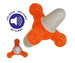 Игрушка для собак CROCI Взрывной квач, оранжевый резина/силикон,  12х12х12 см,