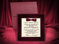 Шикарные пригласительные на свадьбу красного цвета заказать, весільні запрошення