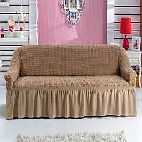 Чехол натяжной на диван MILANO цвет какао (Турция)