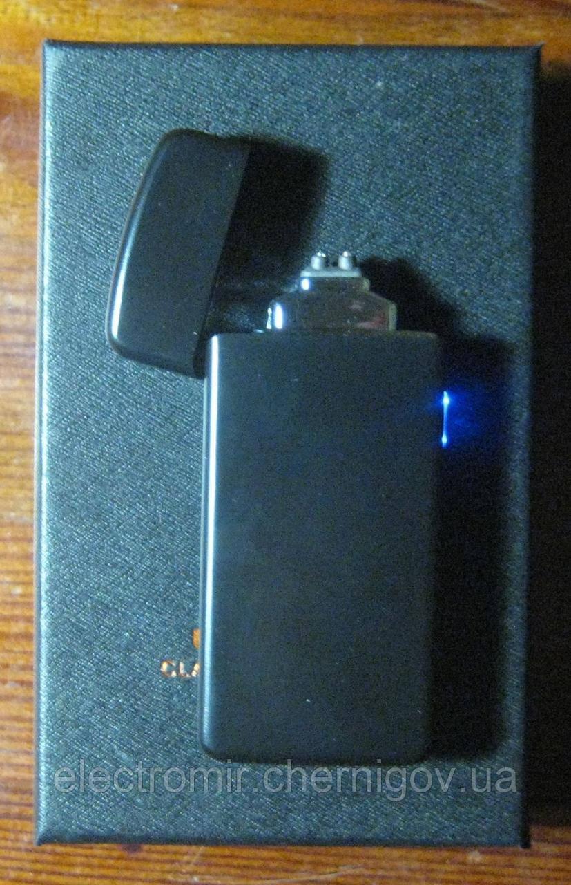 USB зажигалка плазменная на 2 дуги Z-031 (чёрная)