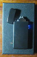 USB зажигалка плазменная на 2 дуги Z-031 (чёрная), фото 1
