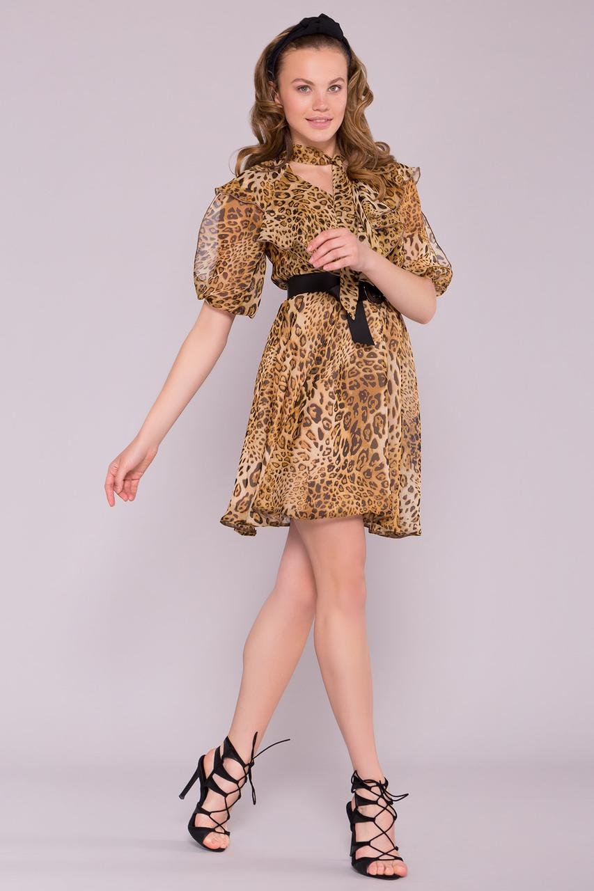 Платье Блюз леопард