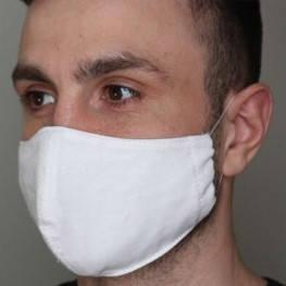 Многоразовая защитная маска для лица 3-х слойная, хлопковая 140г