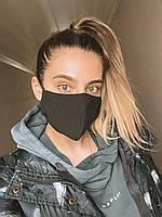 Маска защитная стильная женская трехслойная 266
