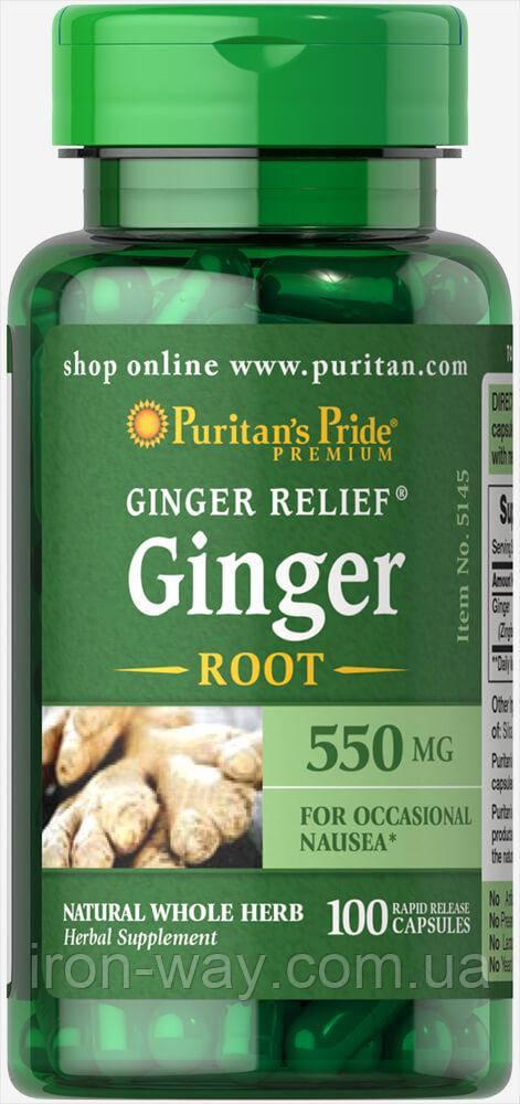 Puritan's Pride Gimger root 550mg caps 100