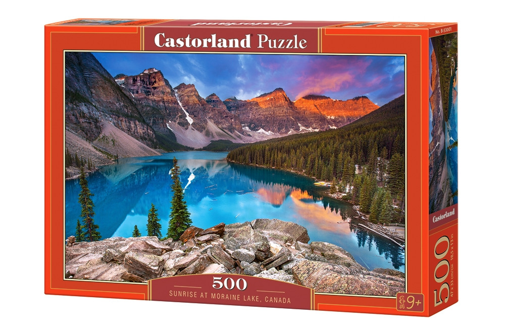 """Пазлы Castorland 500  """"Озеро Морейн, Канада"""" 47*33"""