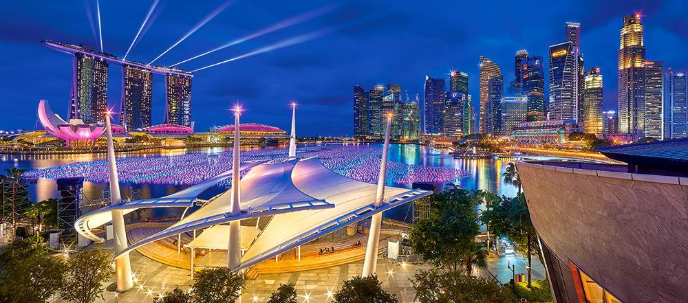 "Пазлы Castorland 600 ""Сингапур"" 68*30"