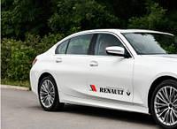 Наклейка Renault на передние двери (чёрный)